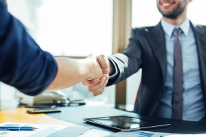 Business handshake for Office Administrator Vancouver